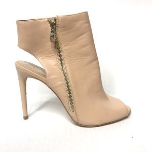 Ann Taylor Peep Toe Boots Nude 9 M